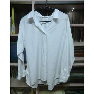 White Long Sleeve Polo