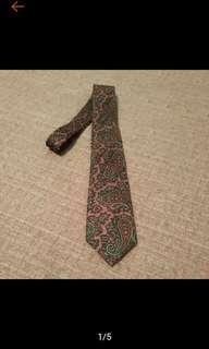 🚚 古著 美國 JWROBINSON'S 復古 變形蟲印花 絲質領帶 VINTAGE領帶