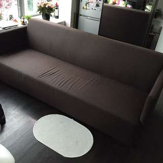 *Price Reduced* Life Storey 4 Seater Sofa (Dark Brown Fabric)