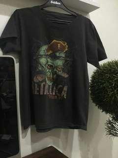 Kaos Import Original Band Metallica,