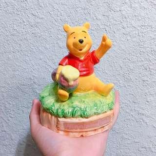 日本購入Winnie The Pooh陶瓷音樂盒