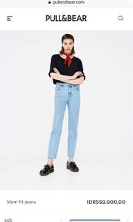 PULL&BEAR MOM JEANS (size 32)