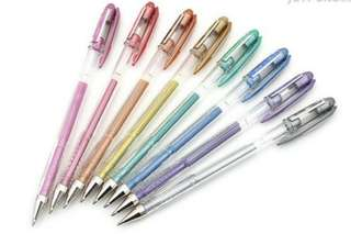 Uni-Ball Signo 8 Color Bundle - Gel Ink Roller Ball Pen (0.8mm Ball, 0.5mm Line)