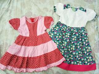 Flowery dress set (3-4thn)