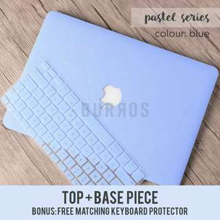 🚚 📣INSTOCKS📣 Pastel Blue Macbook Laptop Shell Hard Case Cover Protector for all models available