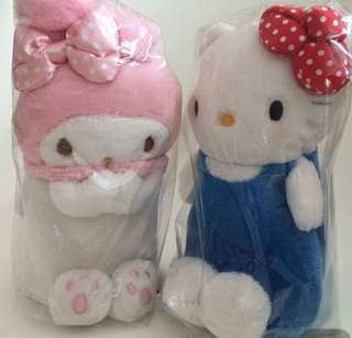Hello Kitty My Melody plush pencil pouch