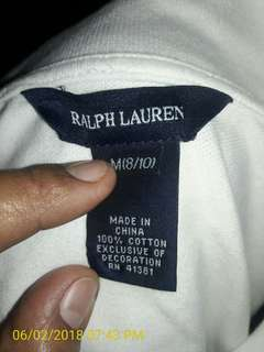 Ralph lauren for girl kids 5butons originaL  good condtion