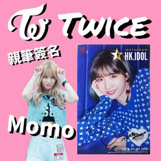 twice MOMO 親筆簽名小卡