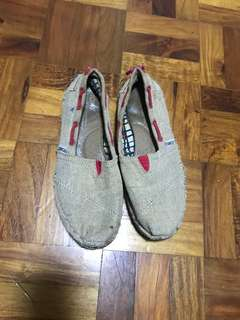 Authentic Toms and Lacoste shoes
