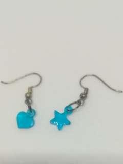 Small heart & star earring