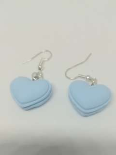 Lolita tiffany blue heart macaroon earring