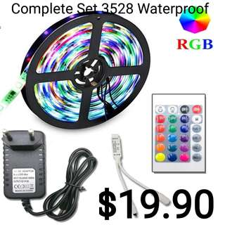 3528-300Leds Waterproof 5M Rgb Led + Controller + 12V Adapter