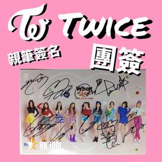 twice what is live 親筆簽名小卡