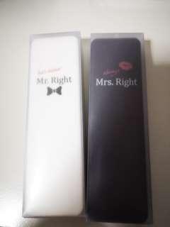 Mr & Mrs Right Portable utensils set