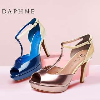 🚚 Daphne/達芙妮女鞋夏款 時尚防水台丁字帶細高跟包跟魚嘴涼鞋清倉 挑戰最低價 任選3雙免運費