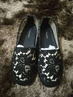 Authentic Dolce & Gabbana lace espadrilles shoe