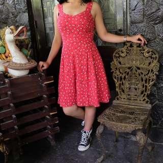Summer Dress Backless Merah