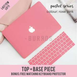 🚚 📣INSTOCKS📣 Pastel Rose Pink Macbook Laptop Shell Hard Case Protector available for all kodels