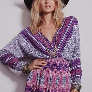 Free People purple paisley midi dress