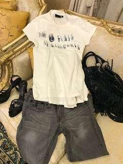 🚚 DKNY sports白色後綁帶上衣