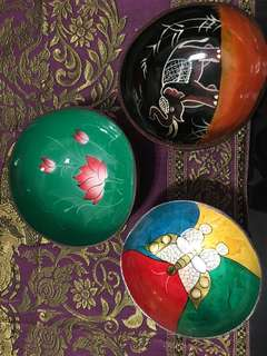 Handcrafted Bowls Coconut shells