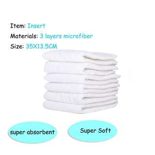 Microfiber Cloth Diaper Inserts