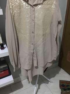 Krem blouse