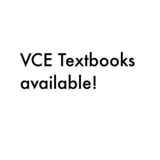 VCE Textbooks Available!