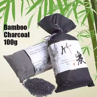 100g Bamboo Charcoal Bag Pouch Active Carbon Air Freshener