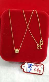 18k saudi necklace