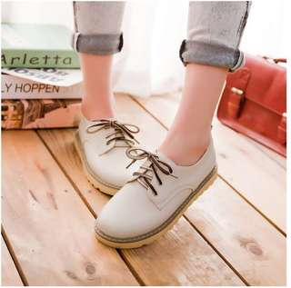 Sweet leather shoes (beige)