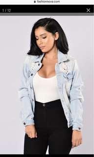 Fashion nova iconic denim jacket