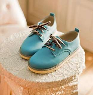 Sweet leather shoes (blue)