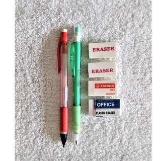 *Guarantee cheapest* 2 Mechanical Pencils + 4 Erasers @ S$0.80