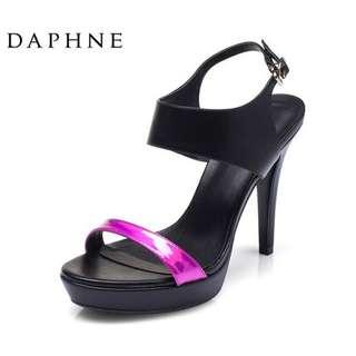 🚚 Daphne/達芙妮女鞋夏季超高跟防水台露趾宴會涼鞋 清倉特惠價 挑戰最低價 任選3雙免運費