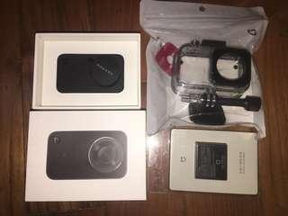 🚚 全新 現貨 米家小相機 含防水殼跟加附ㄧ顆原廠電池(共有兩顆) 4k運動相機 wif 藍芽相機