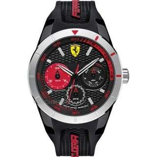 FERRARI 法拉利/紅鑽狂熱飆速運動計時手錶/0830254