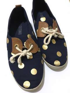 Cotton On Shoes 'Navy-Gold Polkadot' - Size 40