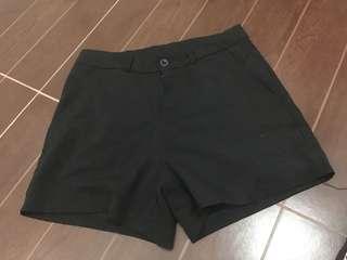 Basic black shorts