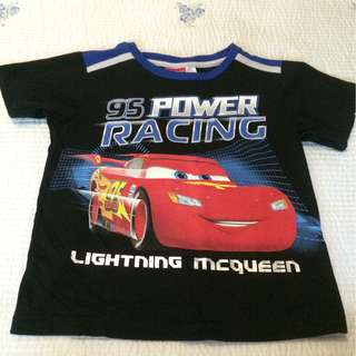 Lightning McQueen Black Boy's Shirt