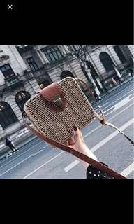 Vintage rattan Sling Bag