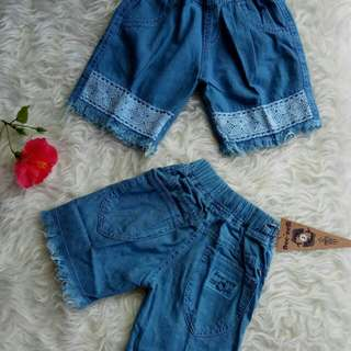 Celana pendek anak Dee eem size 4-9