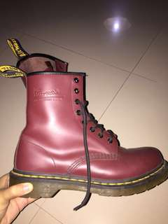 Authentic Dr. Martens boots cherry red