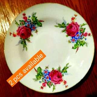 "9"" Pink Flower Plate"