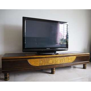 TV Bench/Cabinet - Egyptian, Solid Pine Wood