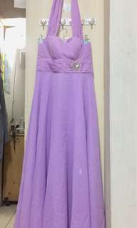 Pre-Loved. Lilac Formal Gown for Wedding or Debut