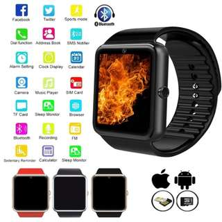 Bluetooth Smart watch Phone with HD Camera TF/SIM Card Slot for Android and IPhone Smartphones