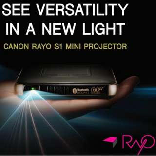 New Rayo S1 compact palm size mini projector cum Bluetooth speaker, power bank
