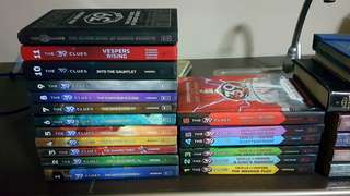39 Clues Series and Cahills vs. Vespers Series (18 hard bound books)