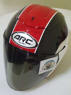 0206 ●● ARC AR1 TIARA RED V TINTED Helmet For Sale 😁😁Thanks To All My Buyer Support 🐇🐇 Yamaha, Honda, Suzuki